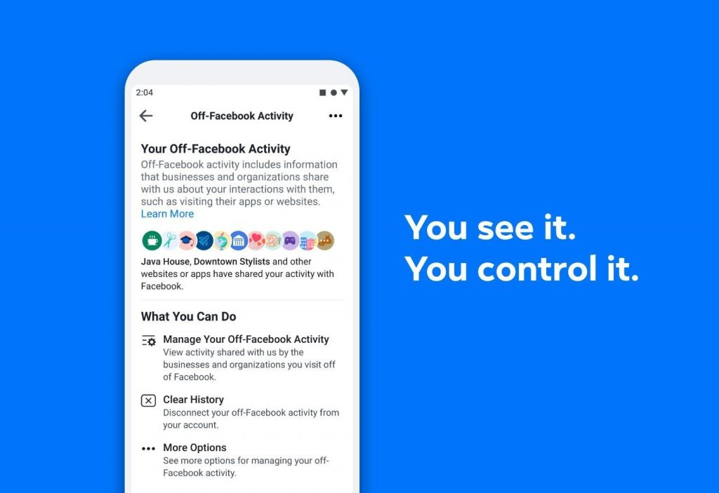 View your Off-Facebook Activity