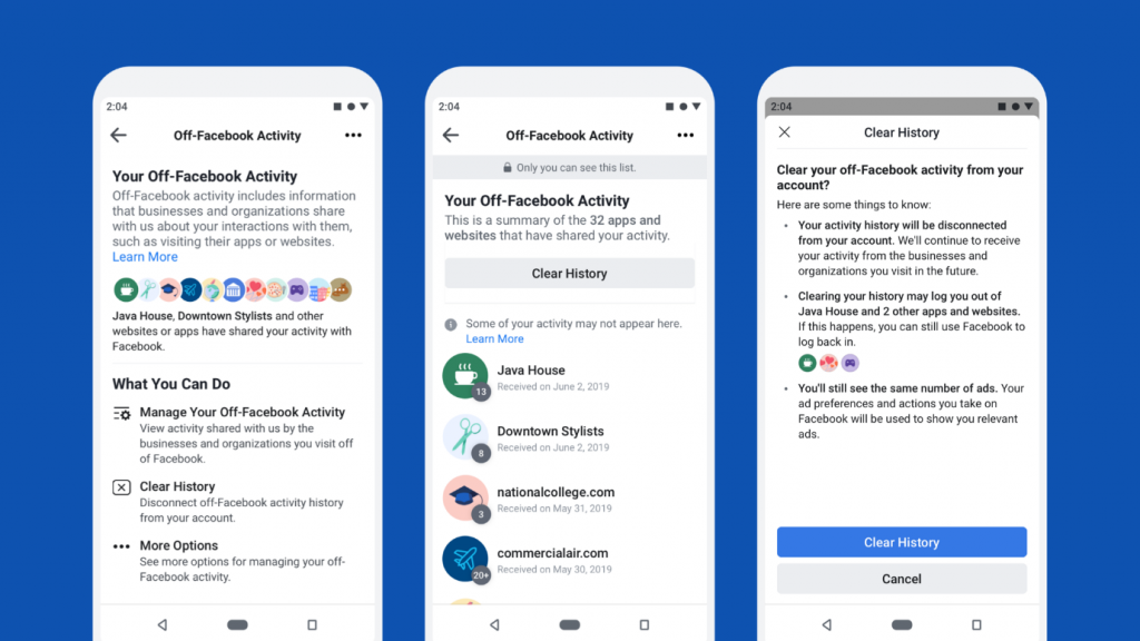 Steps to Delete Off-Facebook activity